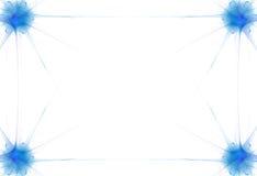 голубое пламя граници Стоковое Изображение
