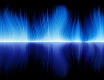 голубое пламя Стоковое Изображение