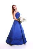 голубое платье стоковое фото