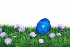 голубое покрашенное пасхальное яйцо Стоковое Изображение RF