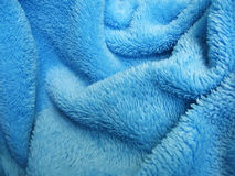 голубое полотенце terry ткани Стоковая Фотография RF