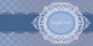 голубое предложение приглашения цвета к Стоковые Фотографии RF