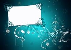 голубое приветствие рождества карточки Стоковые Фотографии RF