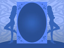 голубое приглашение Иллюстрация штока