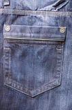 голубое пустое карманн джинсыов Стоковая Фотография RF
