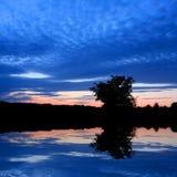 голубое река ночи Стоковые Фото