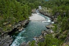 голубое река Стоковая Фотография