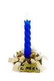 голубое рождество свечки украсило белизну Стоковые Изображения