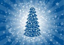 голубое рождество иллюстрация штока
