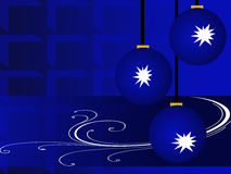 голубое рождество Бесплатная Иллюстрация