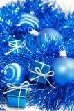 голубое рождество стоковое изображение rf