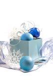 голубое рождество стоковое фото