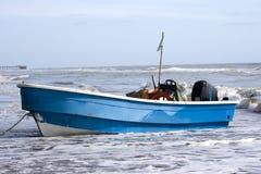 голубое рыболовство шлюпки Стоковые Изображения RF
