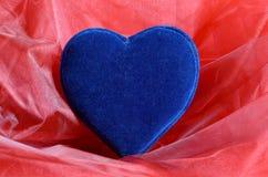 Голубое сердце бархата Стоковая Фотография RF