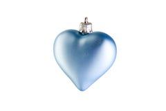 голубое сердце рождества Стоковая Фотография