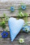голубое сердце Стоковое фото RF