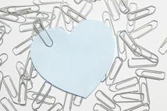 Голубое сердце Стоковые Изображения RF