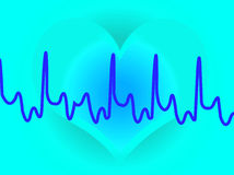 голубое сердце иллюстрация штока