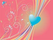 голубое сердце Стоковое Изображение