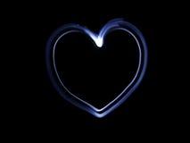 голубое сердце Стоковая Фотография