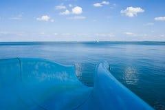 голубое скольжение Стоковое фото RF