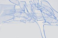 голубое сломанное стекло Стоковая Фотография RF