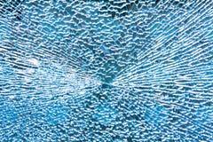 голубое сломанное стекло Стоковое фото RF