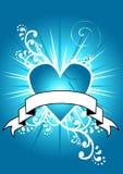 голубое сломленное сердце Иллюстрация вектора