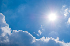 голубое солнечное Стоковая Фотография