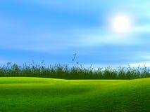 голубое состоя небо ландшафта Стоковая Фотография RF