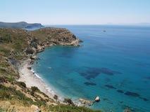 голубое Средиземное море Стоковые Изображения RF