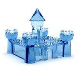 голубое стекло замока Стоковое Изображение