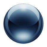 голубое стекло кнопки Стоковые Фотографии RF
