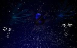 голубое схематическое Стоковая Фотография