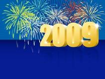 голубое счастливое Новый Год Стоковое фото RF