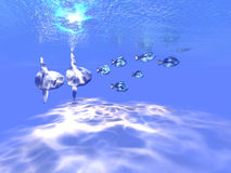 голубое танго Стоковые Изображения RF