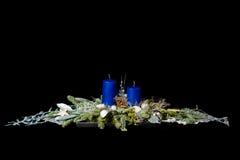 Голубое украшение рождества Стоковое Изображение