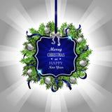 голубое украшение рождества Стоковое Фото