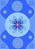 голубое украшение Стоковое Фото