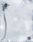 голубое флористическое grunge Стоковые Фотографии RF