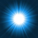 голубое яркое lightburst Стоковое Изображение RF