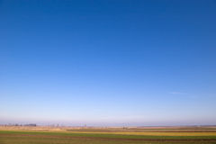 голубое ясное горизонтальное небо Стоковое Изображение