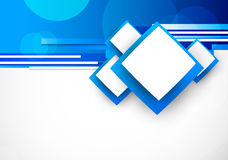 Голубое backgroun с квадратами Стоковое фото RF