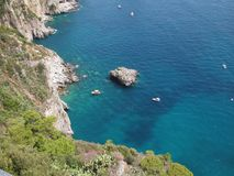 голубое capri Италия Стоковая Фотография RF