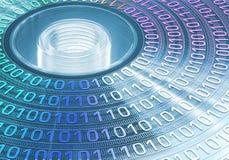 голубое cd хранение луча dvd принципиальной схемы Стоковые Изображения RF