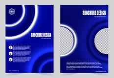 Голубое designr рогульки шаблона брошюры бесплатная иллюстрация
