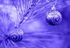 голубое duotone рождества шариков Стоковые Изображения RF