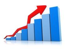 голубое grafic поднимающее вверх Стоковое Фото