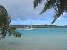 голубое yatch моря Стоковое Изображение RF