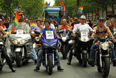голубой авангард paris мотоцикла Стоковое Фото